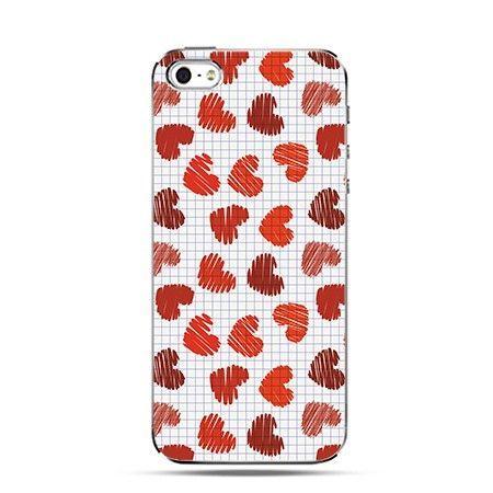 Etui na iPhone 4s / 4 -czerwone serca - PROMOCJA !