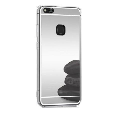 Etui na Huawei P10 Lite mirror - lustro silikonowe lustrzane TPU - Srebrny.