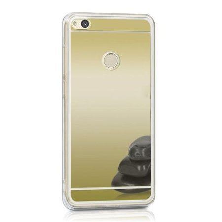 Etui na Huawei P9 Lite 2017 mirror - lustro silikonowe lustrzane TPU - Złoty.