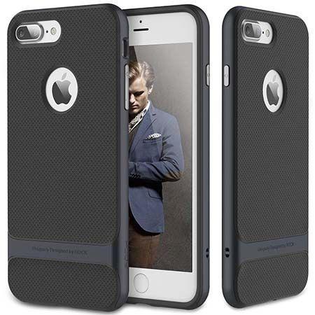 Etui na telefon iPhone 7 Plus Bumper Rock Royce - Grafitowy.