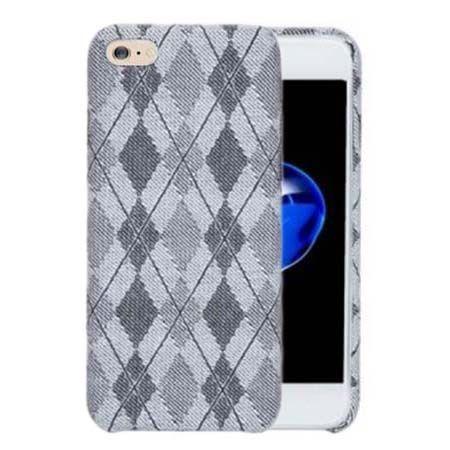 Etui na iPhone 6 Plus Canvas materiałowe elastyczne - Romby szary.