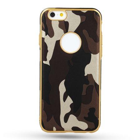Etui na iPhone 5 / 5s silikonowe TPU Army moro - Brązowy.