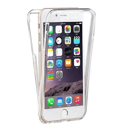 Etui na iPhone 7 silikonowe 360 Full przód i tył - przezroczyste.