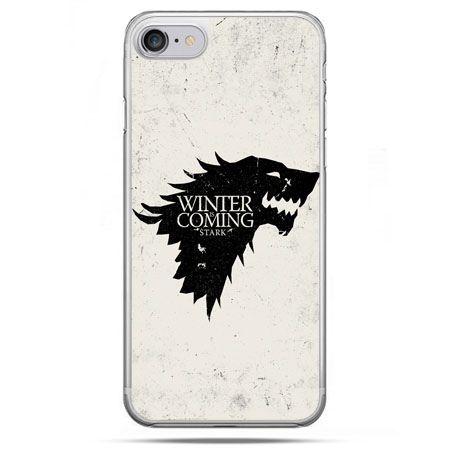 Etui na telefon iPhone 8 - Gra o Tron Winter is coming czarna