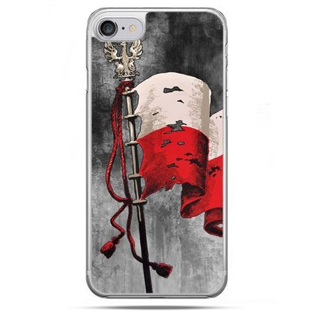 Etui na telefon iPhone 8 - patriotyczne flaga Polski