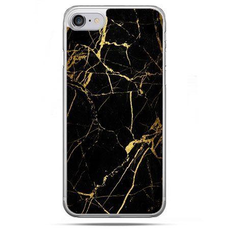 Etui na telefon iPhone 8 - złoty marmur