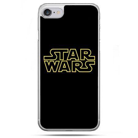 Etui na telefon iPhone 8 - Star Wars złoty napis