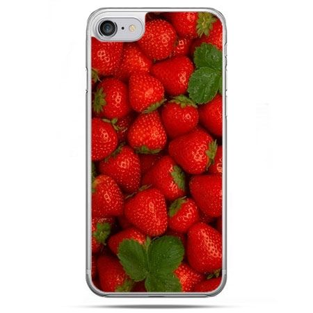 Etui na telefon iPhone 8 - czerwone truskawki