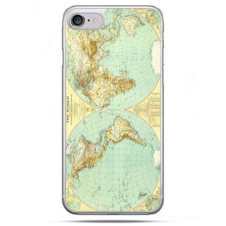 Etui na telefon iPhone 8 - mapa świata
