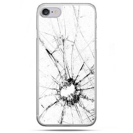 Etui na telefon iPhone 8 - rozbita szybka