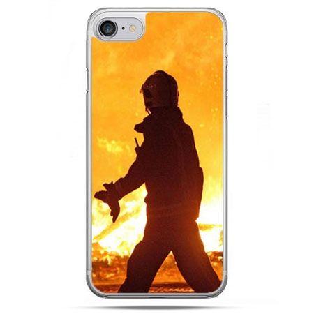 Etui na telefon iPhone 8 - strażak w ogniu