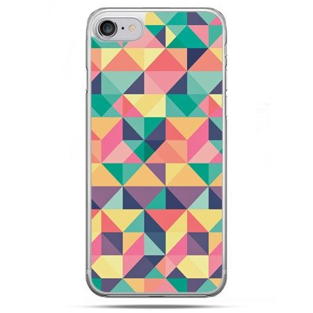 Etui na telefon iPhone 8 - kolorowe trójkąty