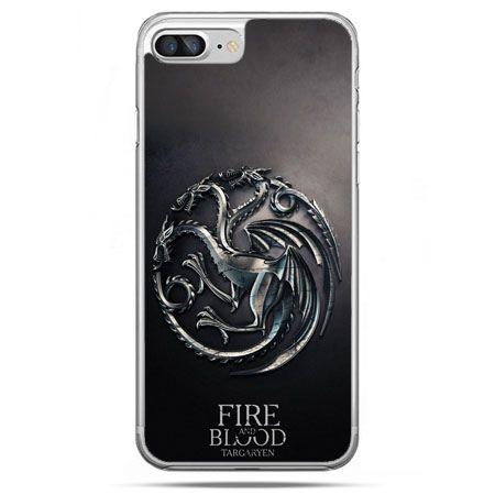Etui na telefon iPhone 8 Plus - Gra o Tron Targaryen house herb