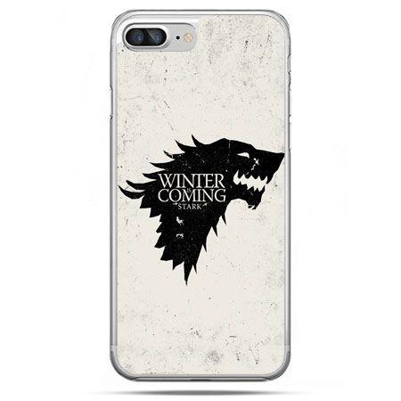 Etui na telefon iPhone 8 Plus - Gra o Tron Winter is coming czarna