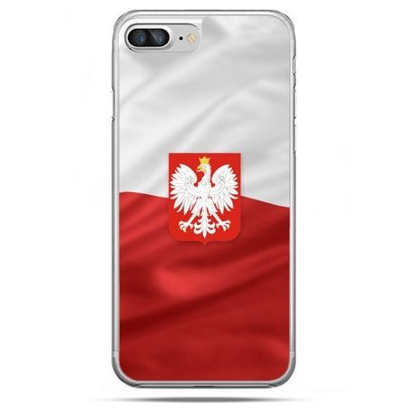 Etui na telefon iPhone 8 Plus - flaga Polski z godłem