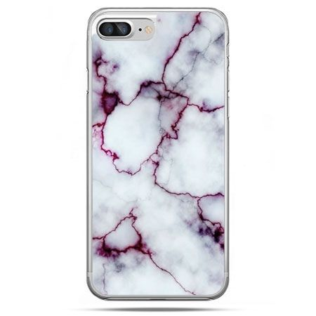 Etui na telefon iPhone 8 Plus - różowy marmur