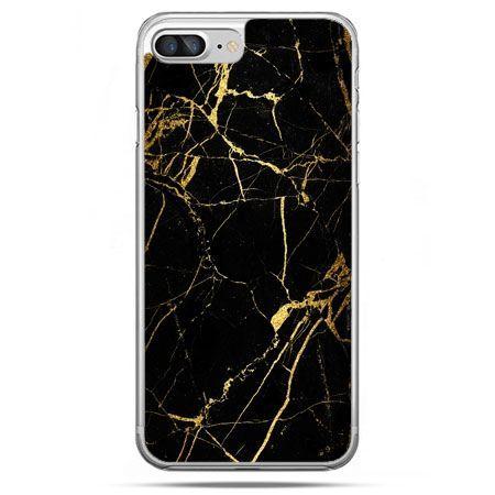 Etui na telefon iPhone 8 Plus - złoty marmur