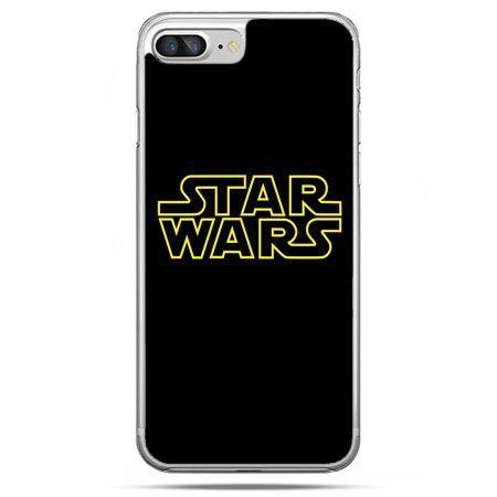 Etui na telefon iPhone 8 Plus - Star Wars złoty napis