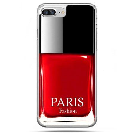 Etui na telefon iPhone 8 Plus - lakier do paznokci czerwony