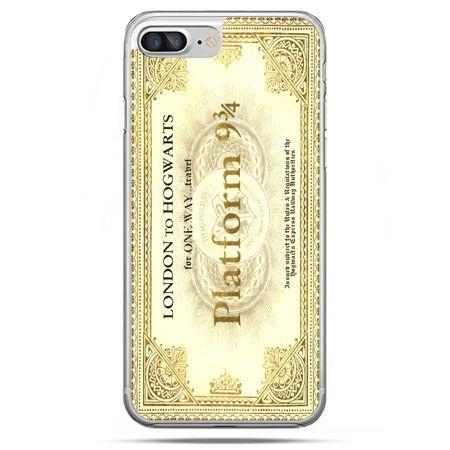 Etui na telefon iPhone 8 Plus - bilet platform 9 3/4 Harry Potter