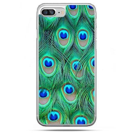 Etui na telefon iPhone 8 Plus - pawie pióra
