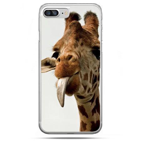 Etui na telefon iPhone 8 Plus - żyrafa z językiem