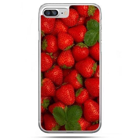 Etui na telefon iPhone 8 Plus - czerwone truskawki