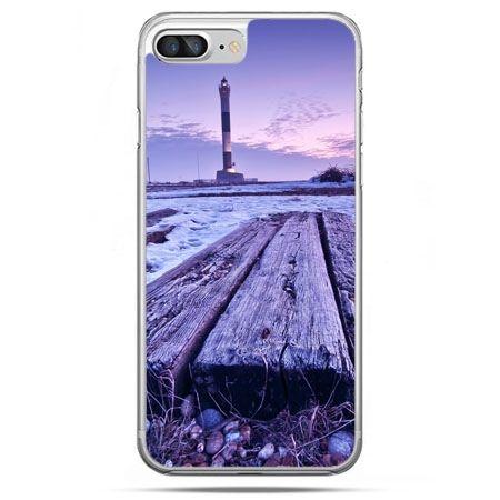 Etui na telefon iPhone 8 Plus - latarnia morska zmierzch