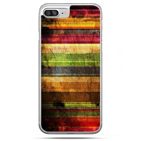 Etui na telefon iPhone 8 Plus - kolorowe deski