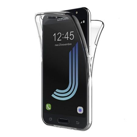 Etui na Galaxy J7 2016 silikonowe 360 Full przód i tył - przezroczyste.