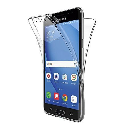 Etui na Galaxy J3 2016 silikonowe 360 Full przód i tył - przezroczyste.