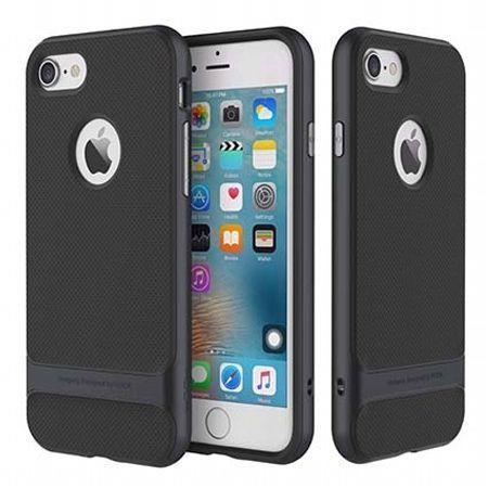 Etui na telefon iPhone 8 Bumper Rock Royce - Grafitowy.