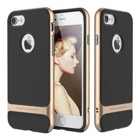 Etui na telefon iPhone 8 Bumper Rock Royce - Złoty.