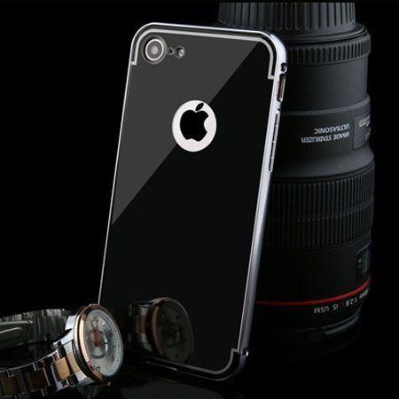 Mirror bumper case na iPhone 8 - Czarny.