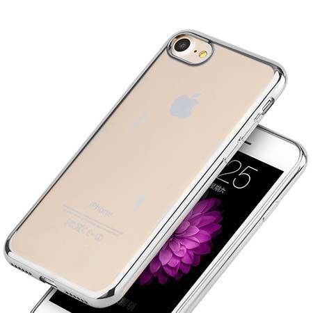Etui na iPhone 8 silikonowe platynowane SLIM kolor - Srebrny.