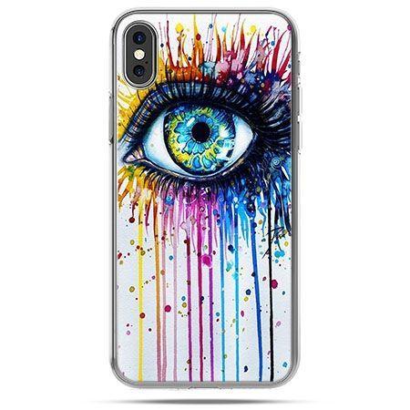 Etui na telefon iPhone X - kolorowe oko