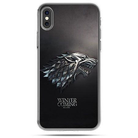 Etui na telefon iPhone X - Gra o Tron Stark Winter is coming