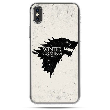 Etui na telefon iPhone X - Gra o Tron Winter is coming czarna