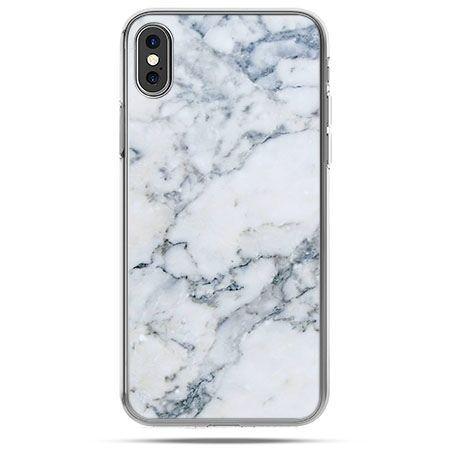 Etui na telefon iPhone X - biały marmur