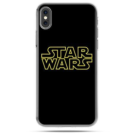 Etui na telefon iPhone X - Star Wars złoty napis