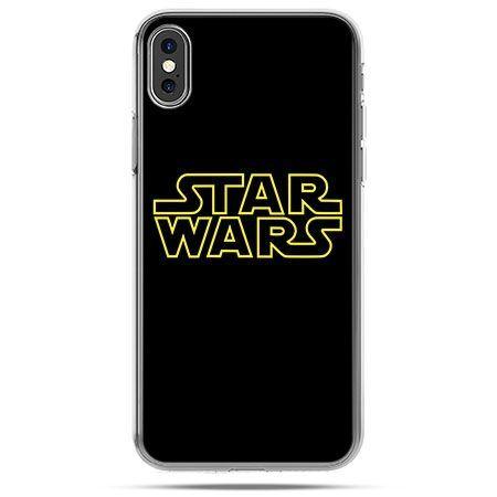 Etui na telefon iPhone X - Star Wars złoty napis