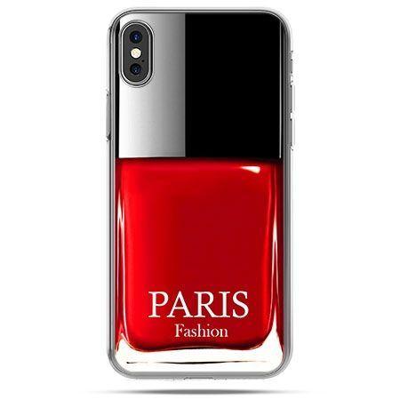 Etui na telefon iPhone X - lakier do paznokci czerwony