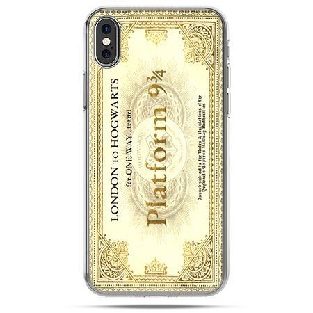 Etui na telefon iPhone X - bilet platform 9 3/4 Harry Potter