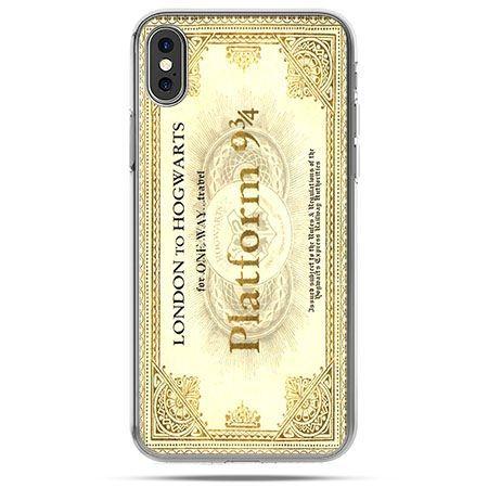 Etui na telefon iPhone X - bilet platform 9 3/4 Harry Potter