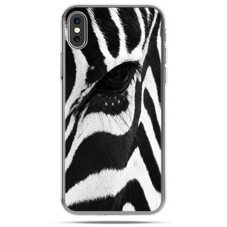 Etui na telefon iPhone X - zebra