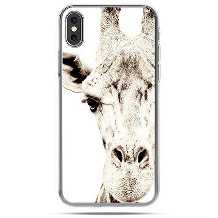 Etui na telefon iPhone X - żyrafa