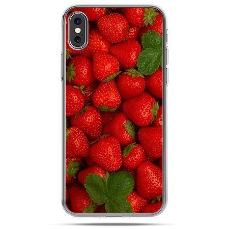 Etui na telefon iPhone X - czerwone truskawki