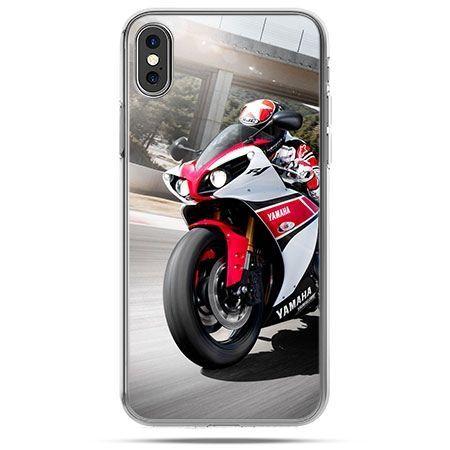 Etui na telefon iPhone X - motocykl ścigacz