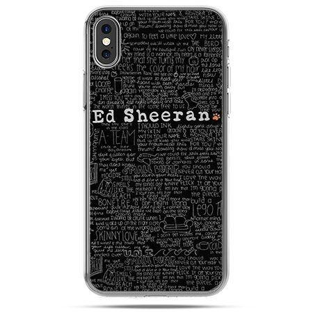 Etui na telefon iPhone X - ED Sheeran czarne poziome