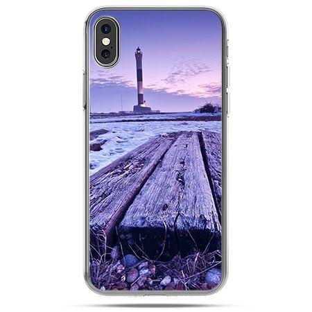 Etui na telefon iPhone X - latarnia morska zmierzch